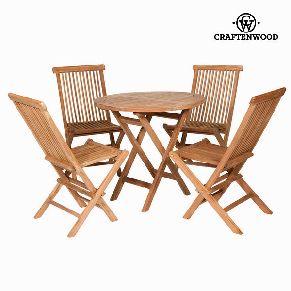 Table set with 4 chairs Craftenwood