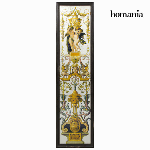 Painting Mirror Black Golden (35 x 2 x 130 cm) by Homania