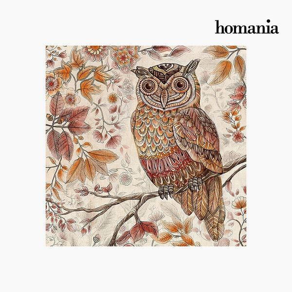 Painting Owl (90 x 90 cm) by Homania