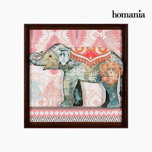 Acrylic Painting Elephant (71 x 71 cm) by Homania