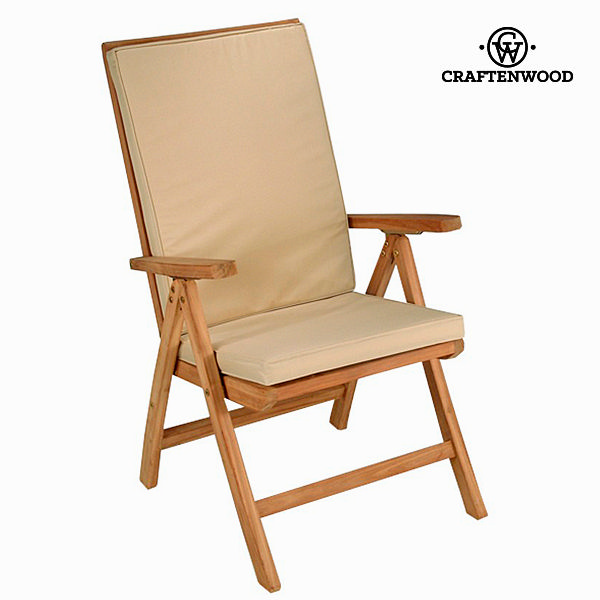 Natural teak recliner chair by Craftenwood