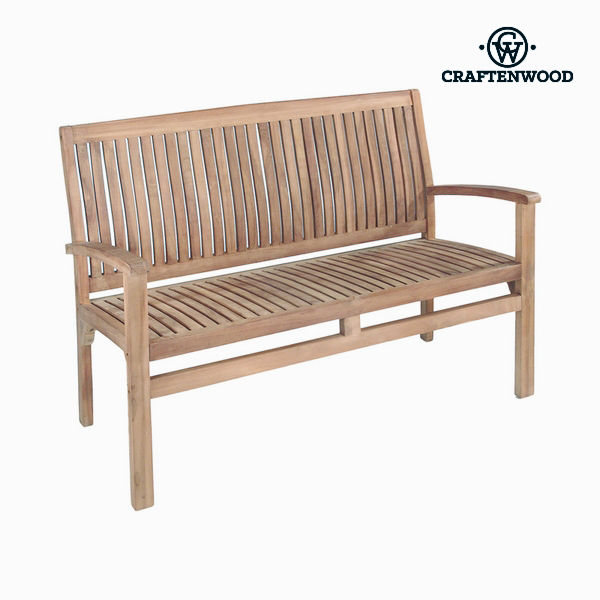Bench with backrest Bali Teak by Craftenwood