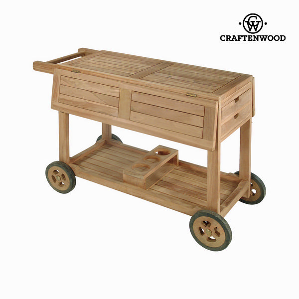 Teak wood drinks trolley by Craftenwood