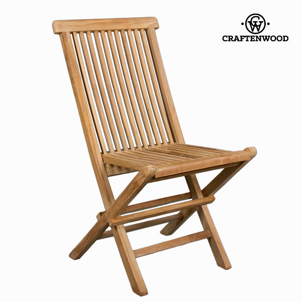Teak folding chair  by Craftenwood