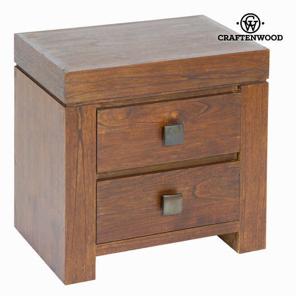 Nightstand Mindi wood (55 x 38 x 54 cm) - Nogal Collection by Craftenwood