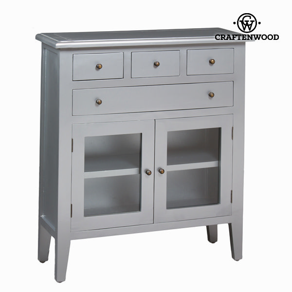 Cabinet with 4 silver drawers - Serious Line Collection by Craftenwood