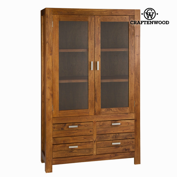 Display Cabinet With Double Glass Doors Craftenwood (180 x 110 x 40 cm) - Be Yourself Collection