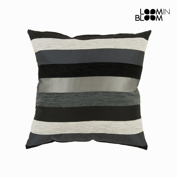 Cushion Black (45 x 45 x 10 cm) - Colored Lines Collection by Loom In Bloom