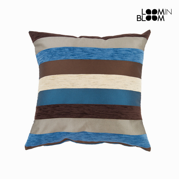 Cushion Blue (60 x 60 cm) - Colored Lines Collection by Loom In Bloom