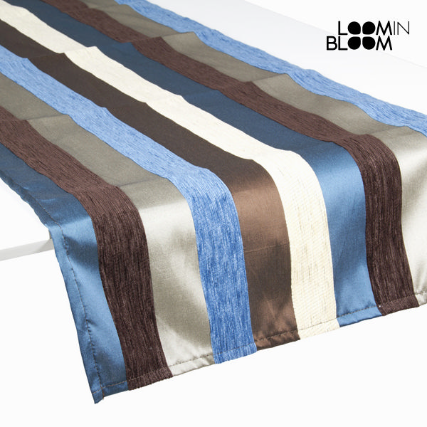 Table Runner Blue (135 x 40 cm) - Colored Lines Collection by Loom In Bloom