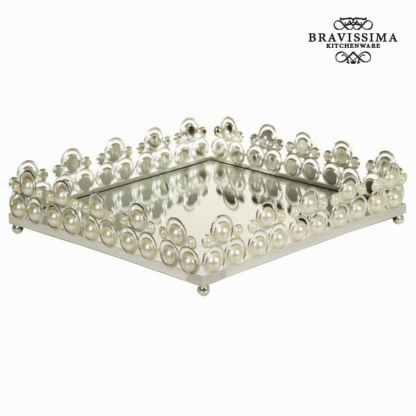 Silver tray with glass - Queen Kitchen Collection by Bravissima Kitchen