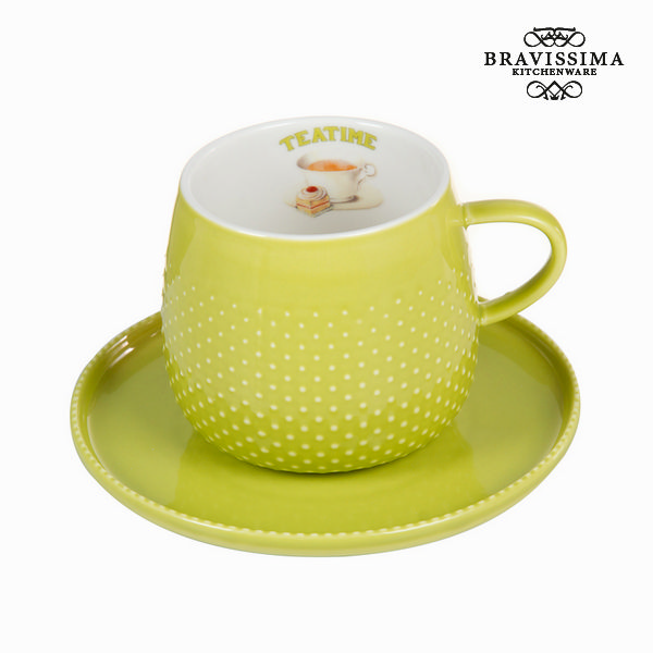 Cup with green plate - Kitchen's Deco Collection by Bravissima Kitchen
