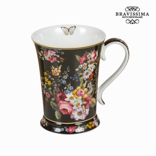 Bloom black porcelain cup - Kitchen's Deco Collection by Bravissima Kitchen