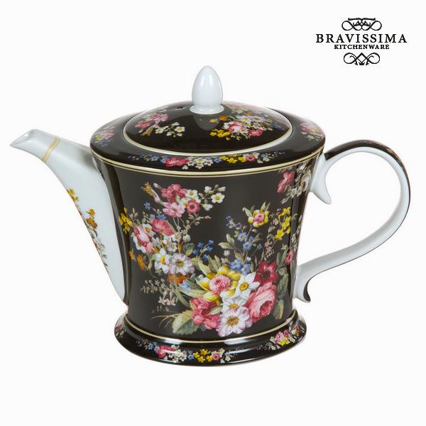 Bloom black porcelain teapot - Kitchen's Deco Collection by Bravissima Kitchen