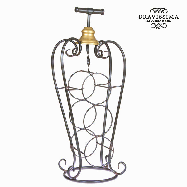 Bottle rack Iron (75 x 20 x 19 cm) - Art & Metal Collection by Bravissima Kitchen