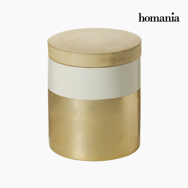 Bamboo box with lid by Homania