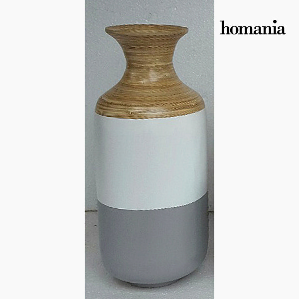 Gray and white bamboo vase by Homania