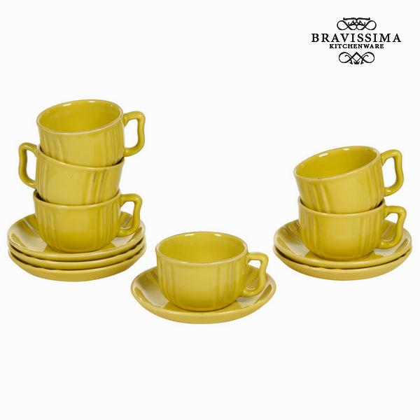 Set of Mugs with Saucers China crockery (6 pcs) - Kitchen's Deco Collection by Bravissima Kitchen