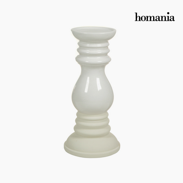 Beige ceramic candleholder by Homania