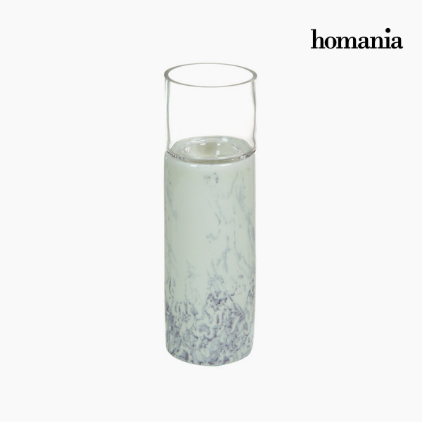 White ceramic candleholder by Homania