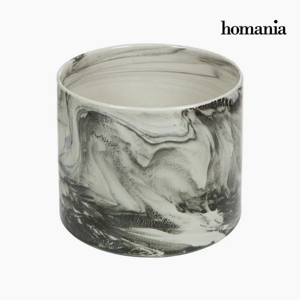 Centerpiece Ceramic White (21,5 x 21,5 x 18,7 cm) by Homania
