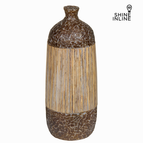 Lamp Fibreglass Brown (42 x 16 x 16 cm) by Shine Inline