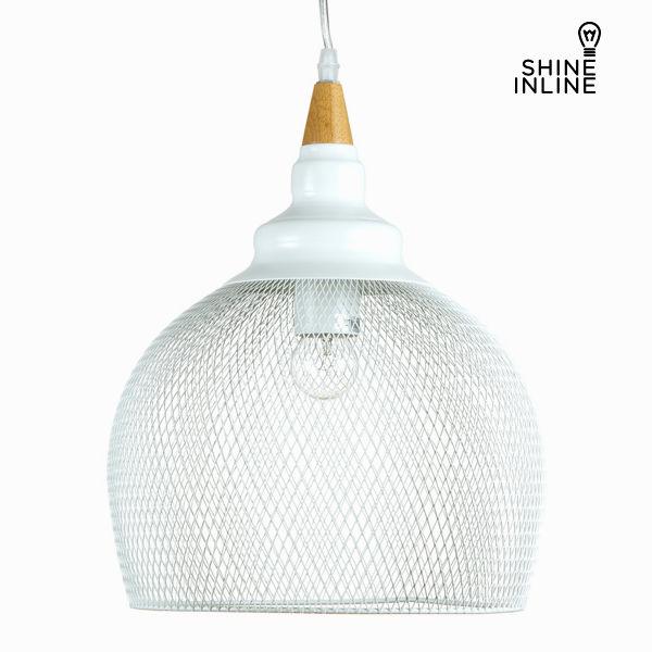 Ceiling Light Wood Metal White (38 x 38 x 160 cm) by Shine Inline
