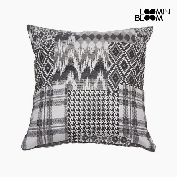 Cushion Cotton and polyester Black (45 x 10 x 45 cm) by Loom In Bloom