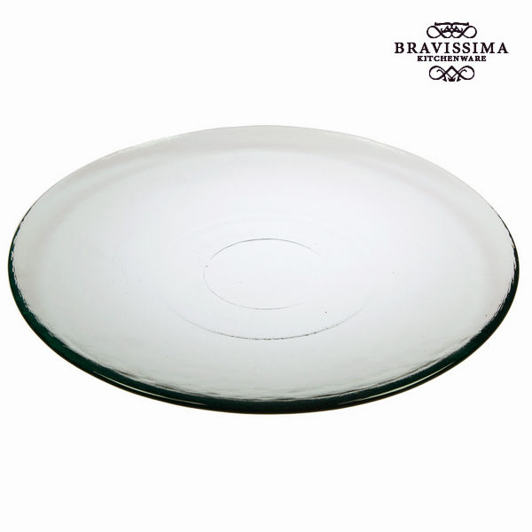 Recycled Glass Plate Smooth Transparent - Pure Crystal Kitchen Collection by Bravissima Kitchen