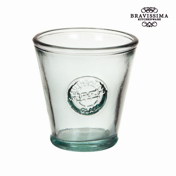 Recycled Glass Vase Low Conical - Pure Crystal Kitchen Collection by Bravissima Kitchen