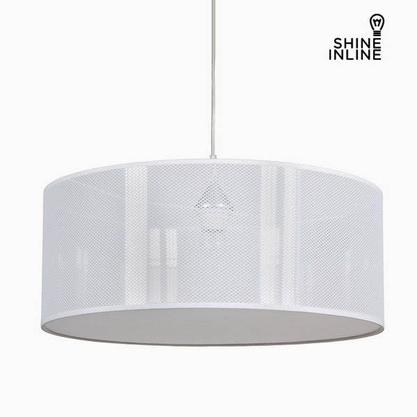 Ceiling Light Zurich Cotton and polyester White (50 x 50 x 20 cm) by Shine Inline
