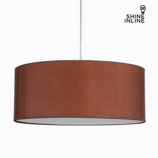 Ceiling Light Ceramic Cotton and polyester Brown (50 x 50 x 20 cm) by Shine Inline