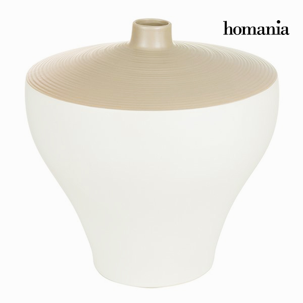 Vase White Brown - Ellegance Collection by Homania