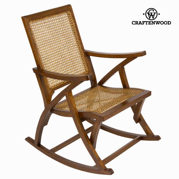 Rocking Chair Rattan (90 x 75 x 57 cm) by Craftenwood