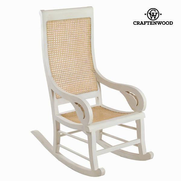 Rocking Chair Teak Rattan (115 x 100 x 48 cm) by Craftenwood