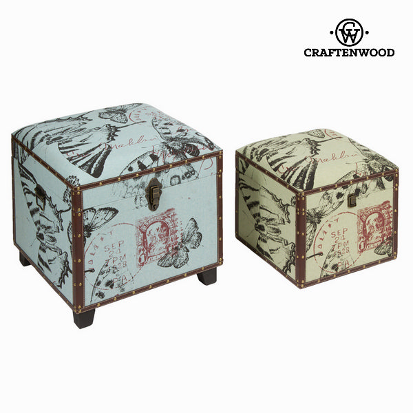 Set of 2 storage chests - Printed Collection by Craftenwood