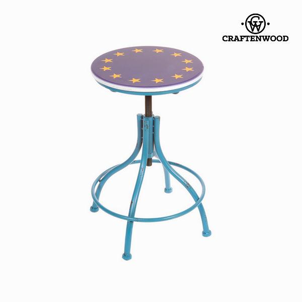 Stool metallic blue by Craftenwood