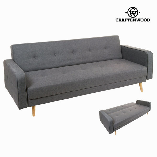 Sofabed Synthetic fabric Grey - Love Sixty Collection by Craftenwood
