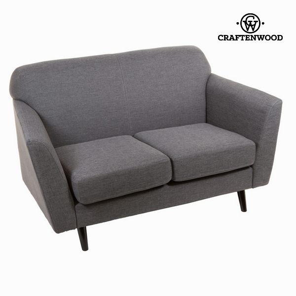 2-Seater Sofa Grey (143 x 83 x 86 cm) - Love Sixty Collection by Craftenwood