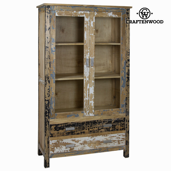 Display Cabinet With Double Glass Doors Craftenwood (105 x 45 x 180 cm) - Poetic Collection
