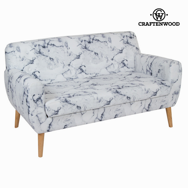 2-Seater Sofa Rubber wood (144 x 82 x 81 cm) by Craftenwood