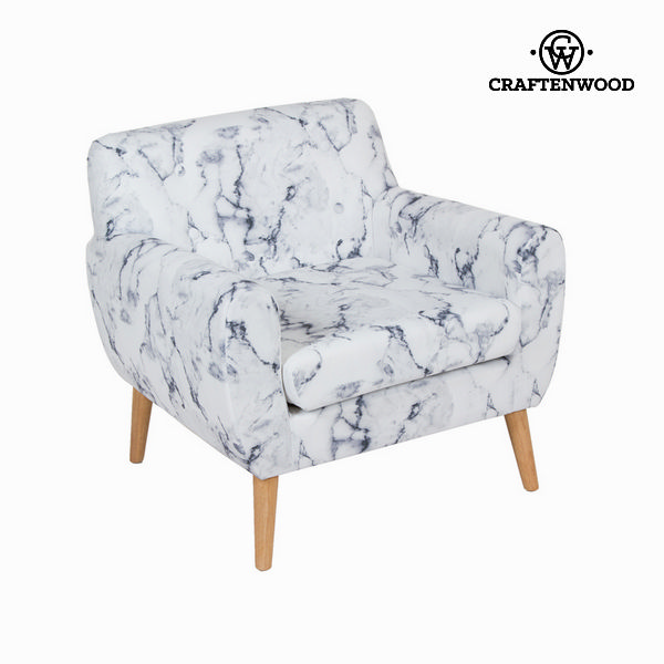 Armchair Rubber wood (84 x 82 x 81 cm) by Craftenwood