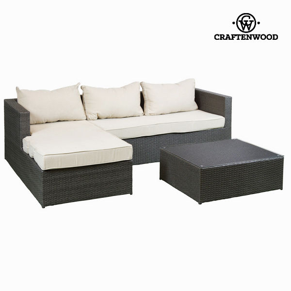 Sofa and table set by Craftenwood