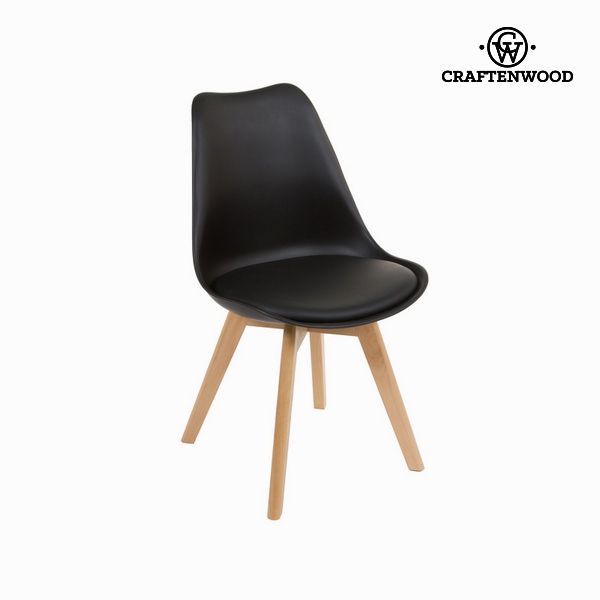 Chair with wood legs by Craftenwood