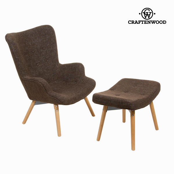 Chair with footrest by Craftenwood