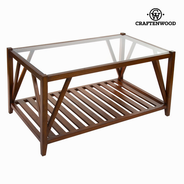 Coffee table with glass - Serious Line Collection by Craftenwood