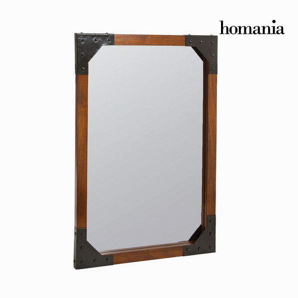 Wood and metal wall mirror - Franklin Collection by Homania