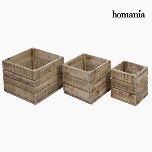 Set 3 wooden boxes morris by Homania