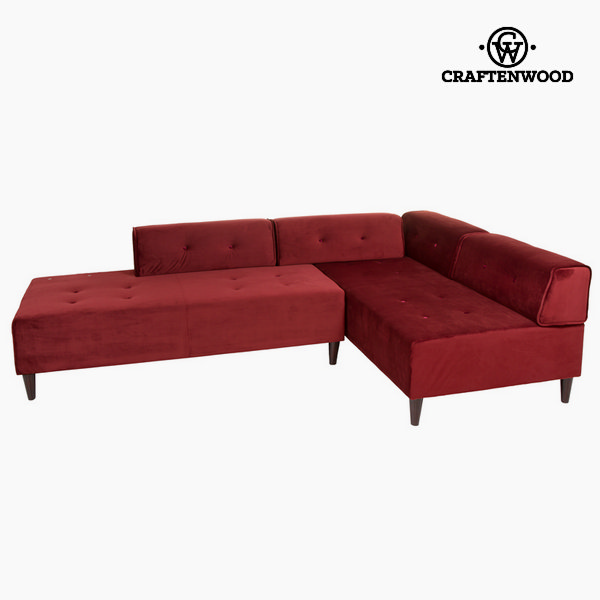 Chaise lounge burgundy ceos by Craftenwood