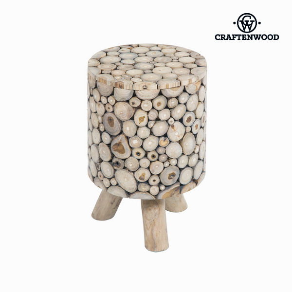 Trunk Stool with Legs Craftenwood (45 x 30 x 30 cm) Wood - Autumn Collection